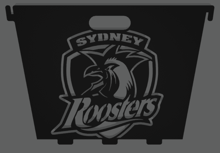 Small Square Collapsible Fire Pit Sydney Roosters